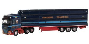 Oxford Diecast DAF XF Euro 6 Livestock Transporter - Skeldons
