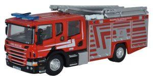 Oxford Diecast  Scania CP31 Pump Ladder Shropshire Fire & Rescue
